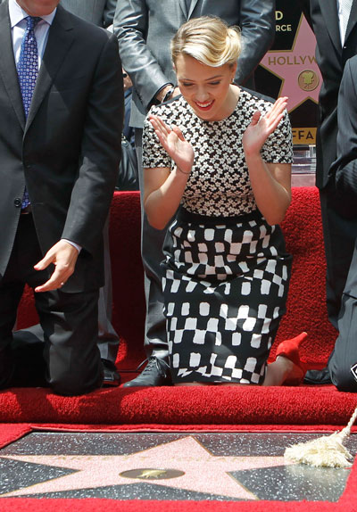 Walk of Fame for Scarlett Johansson - Emirates 24/