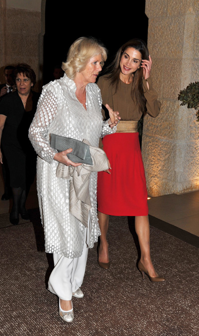 Prince Charles, Camilia meet Queen Rania of Jordan ...
