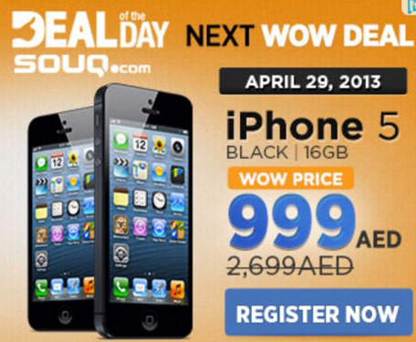Short-lived' Souq com iPhone 5 for Dh999 deal frustrates buyers