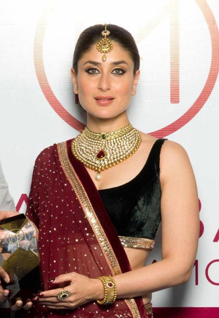Bejeweled Kareena Kapoor shows off her royal colour ...