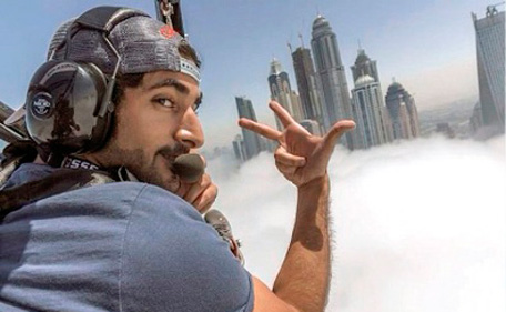 Dubai Crown Prince Untangles Parachute Cords To