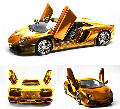 World S Most Expensive Car Dh27m Gold Lamborghini On Sale In Dubai