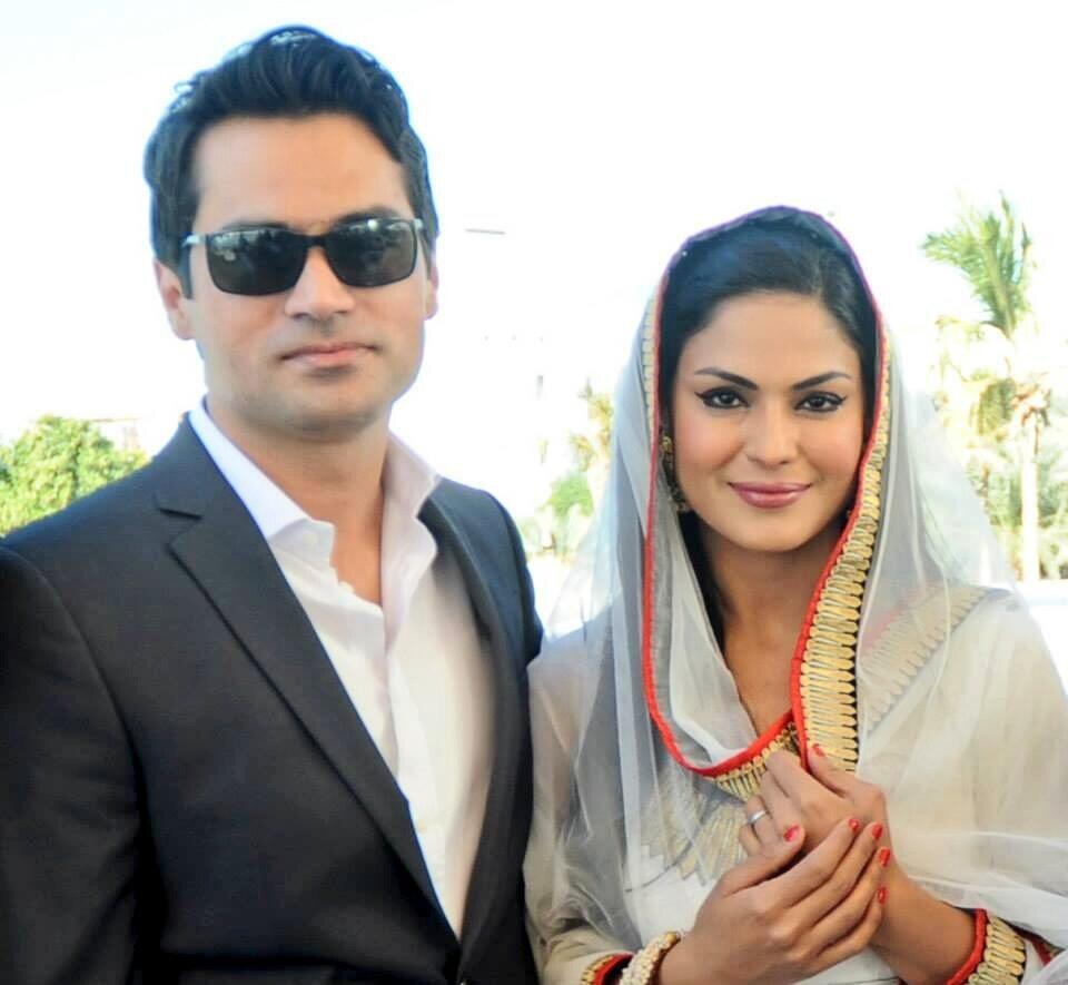 Stani Actress Veena Malik S Dubai Wedding Al