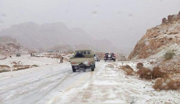 Gambar Salji di Emiriyah Arab Bersatu