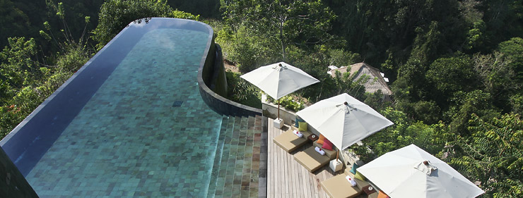 10 amazing swimming pools from world over emirates24 7 for Ubud hanging gardens swimming pool price