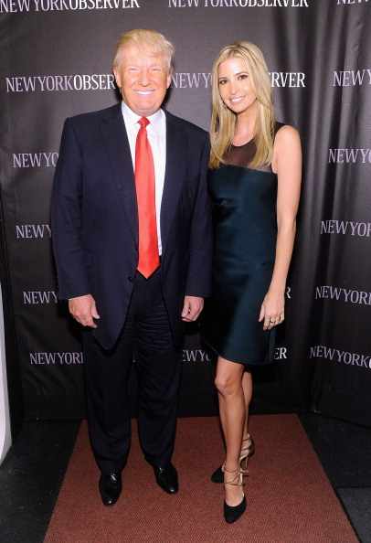 Donald Trump and Ivanka Trump attend The New York Observer Relaunch ...