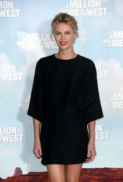 Charlize Theron Black Dresses