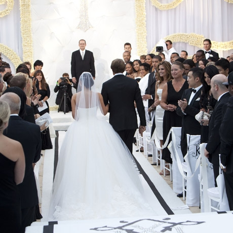 Kim In Her Givenchy Haute Couture Lace Gown