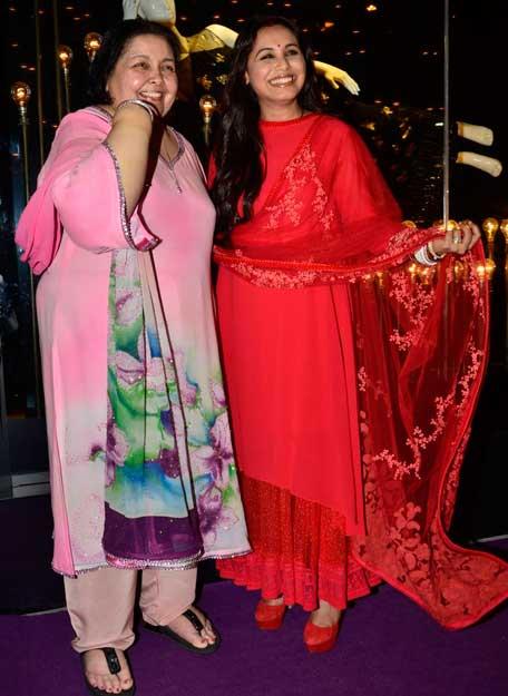 Blushing bride Rani Mukerji's first outing post wedding ...