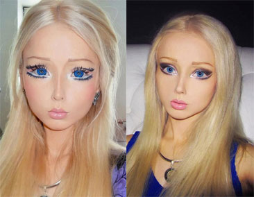 Valeria Lukyanova real life Barbie Before and After Plasticsurgery (Pictures)