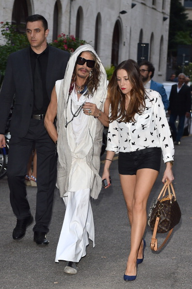 Steven Tylers Rocker Chic 20 Year Old Girlfriend And A Kaftan