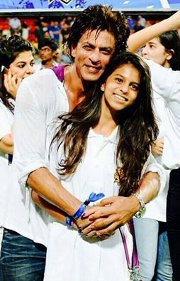 IPL champ Shah Rukh with his lucky charm - Suhana ...