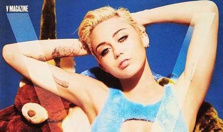 Miley Cyrus Bares Nothing For V Magazine: Pics - Boldsky.com