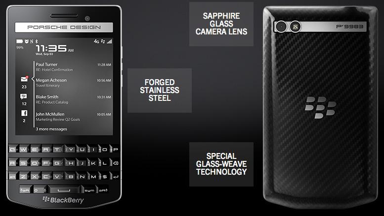blackberry launches new porsche design p9983 emirates 24 7. Black Bedroom Furniture Sets. Home Design Ideas