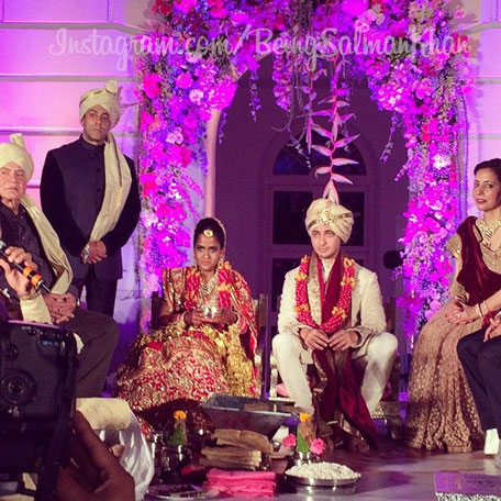 salman khan shares sister arpitas wedding pictures