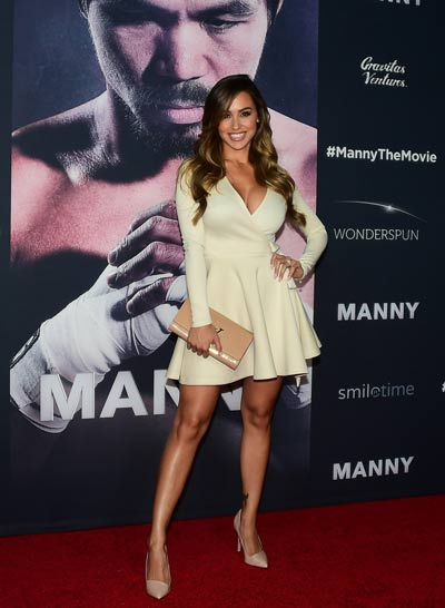 Ring Girls Roll It Out For Manny The Movie Arianny