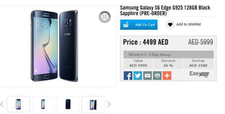 Samsung Galaxy S6, S6 Edge price, availability in UAE - Emirates24|7