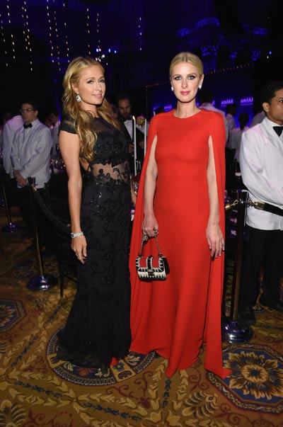 Painting the town red: Naomi Campbell, Paris Hilton ...