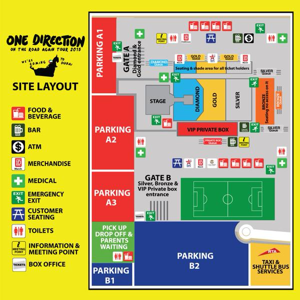 One Direction in Dubai -  location and stadium details
