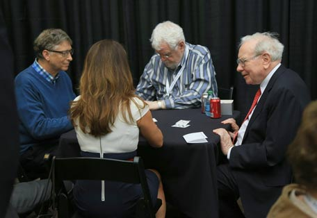 warren buffett bill gates playing bridge