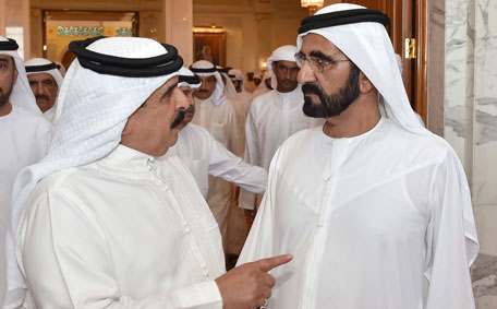 Mohammed accepts condolences at Zabeel - Emirates24|7