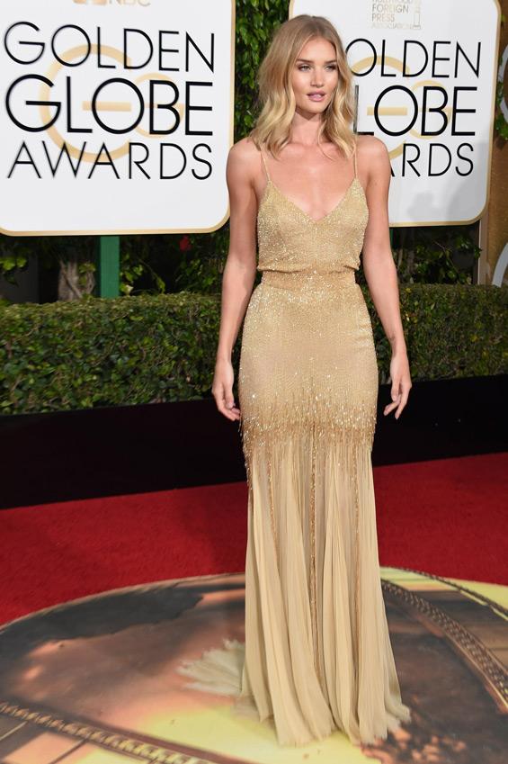 Golden Globes Red Carpet Has Rosie Huntington Whiteley