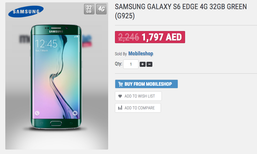 Samsung Galaxy S6 UAE price drops ahead of S7 launch - Emirates24|7