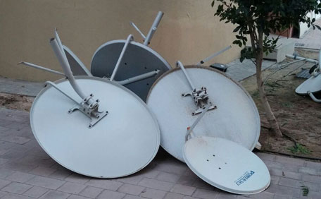During Our Inspection We Have Noticed That There Are Satellite Dishes Antennae Installed On The External Façade Balcony Roof Of Some Buildings