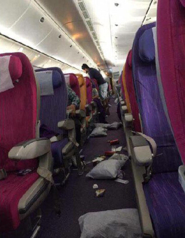 Severe Flight Turbulence Leaves Six Injured Seat Covered