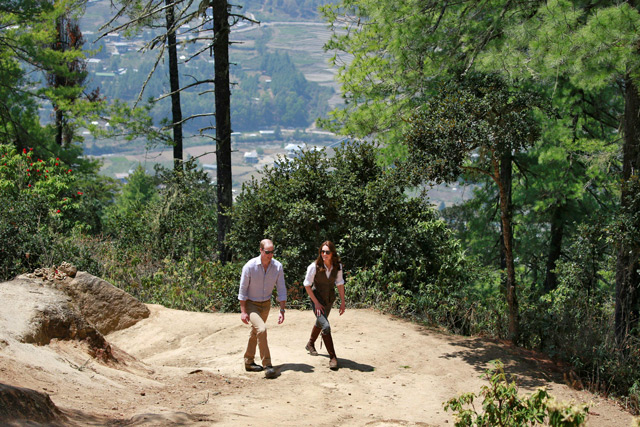 Pregnant Kate Middleton Hides Baby Bump During Bhutan Visit?