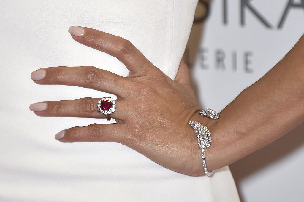 Eva Longoria stepped out in the French city of Paris, where she proudly  wore her engagement ring