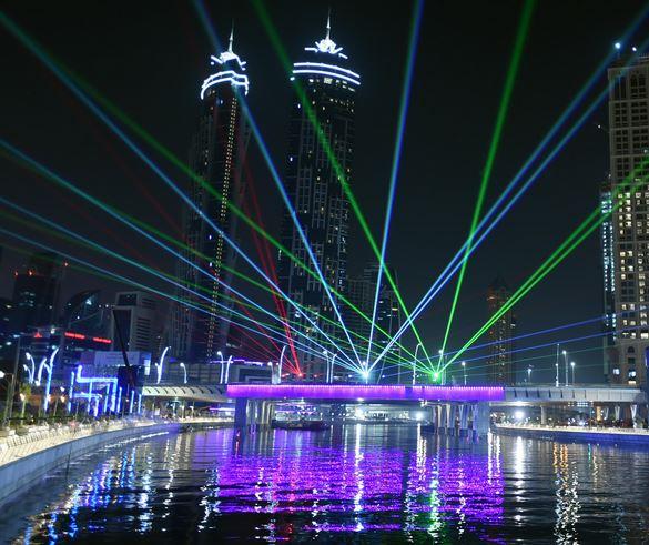 sheikh mohammed inaugurates  dubai water canal emirates