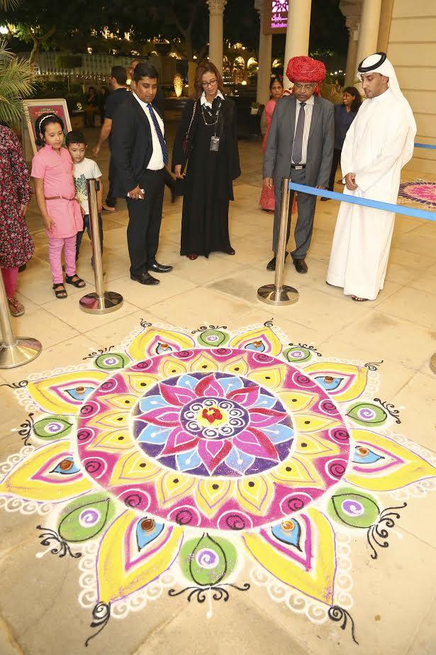 Indian festivities take centrestage at sharjah 39 s al qasba for K muraleedharan family photo