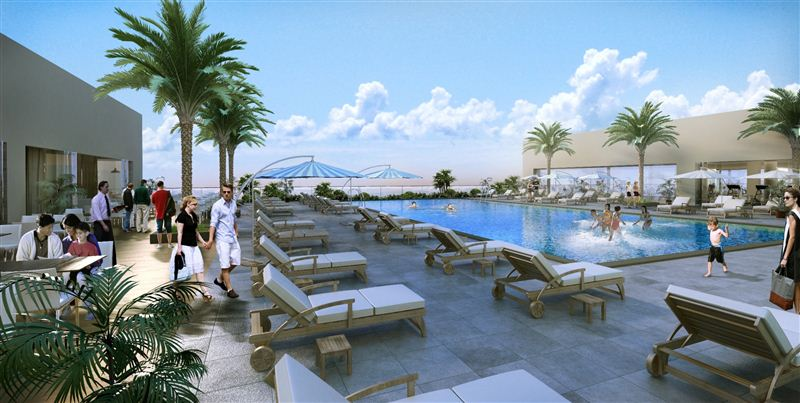 Nakheel adds rooftop recreation club to circle mall at - Intercontinental park lane swimming pool ...