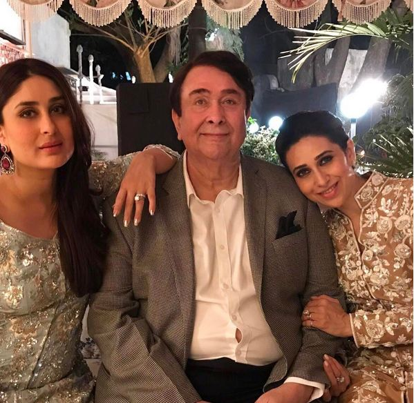 kareena saif and karisma party with birthday boy randhir