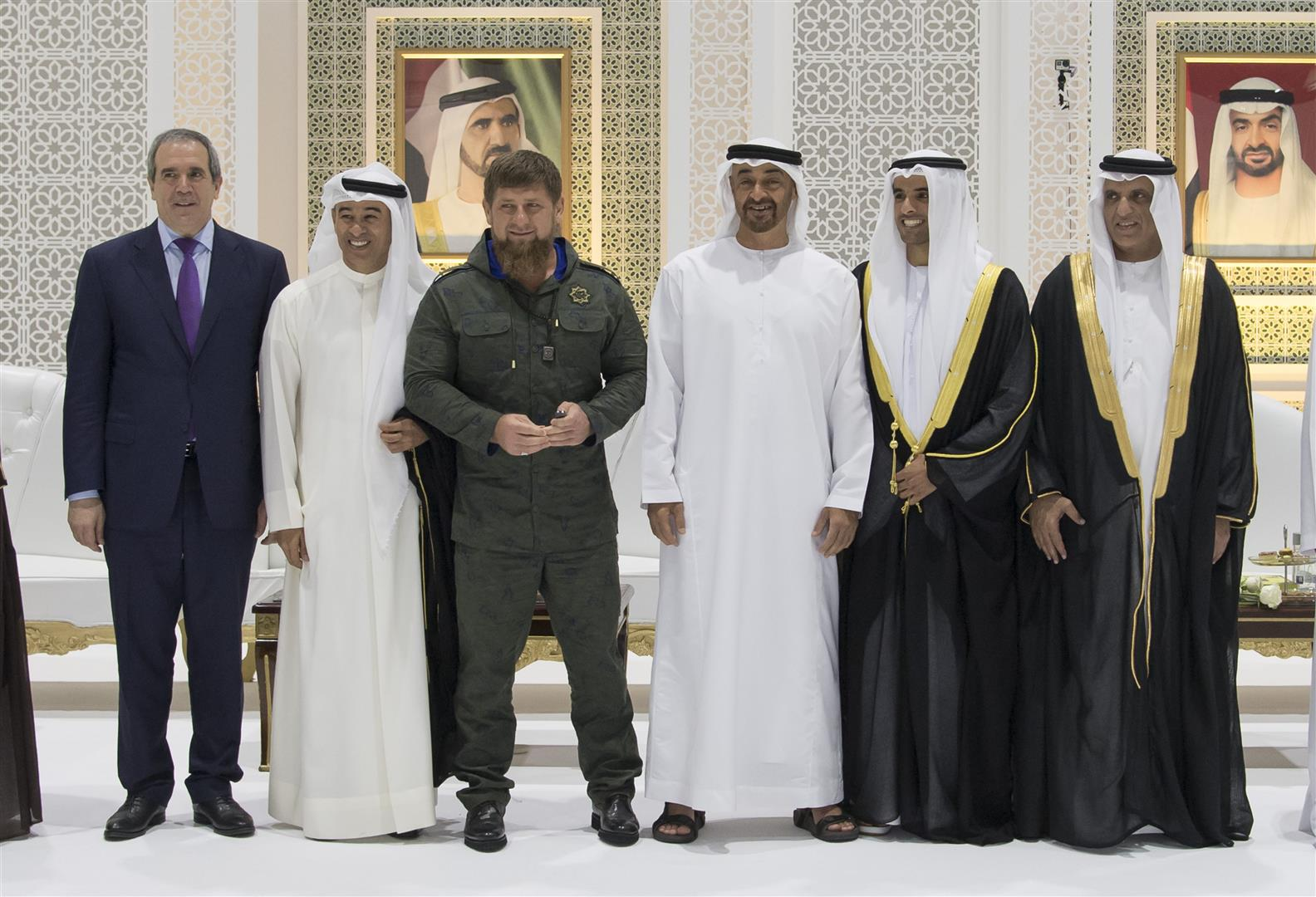 Vp  Mohamed Bin Zayed And Rulers Attend Al Abbar And Al