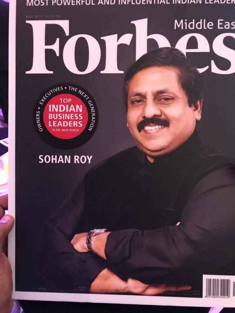 UAE Sohan Roy featured in Forbes Middle East Top Powerful