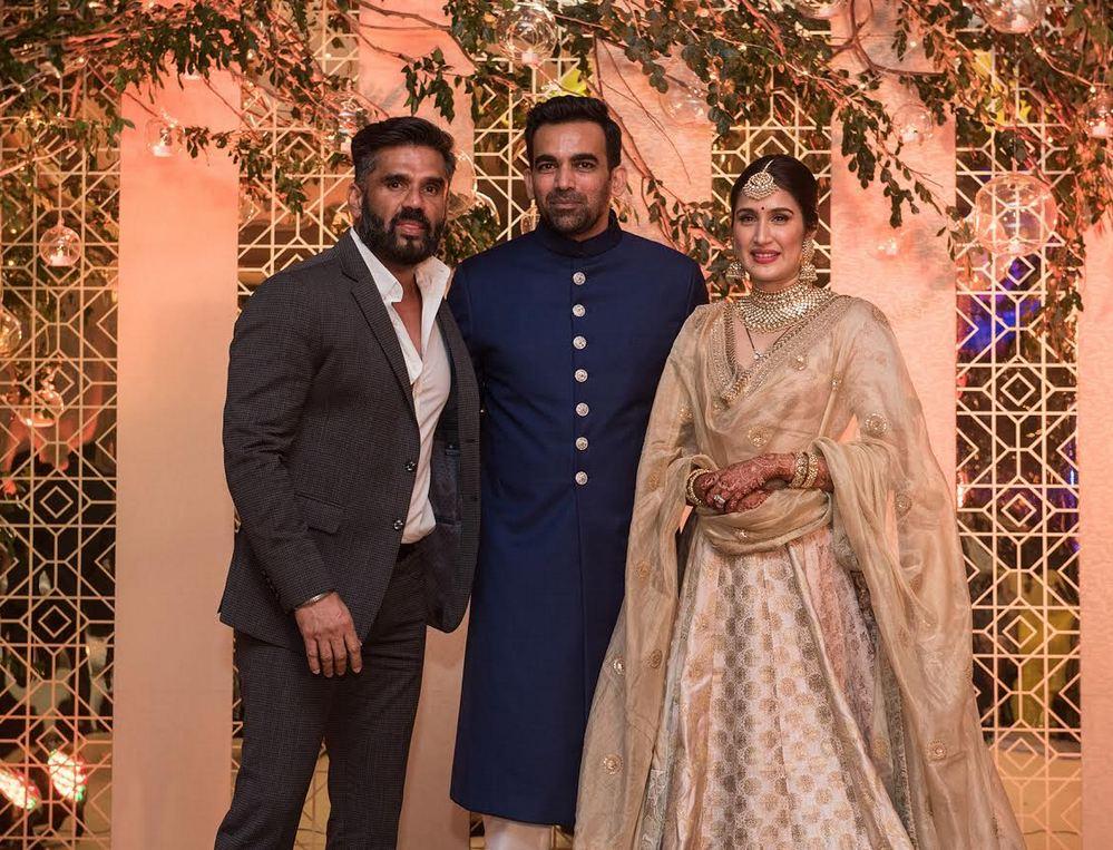 Sagarika Ghatge And Zaheer Khan Reception Anushka Sharma