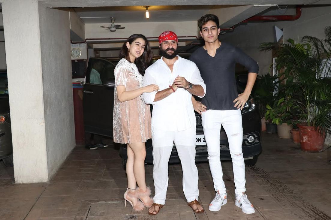 Saif Ali Khan celebrates birthday with family ... Saif Ali Khan Wife And Kids