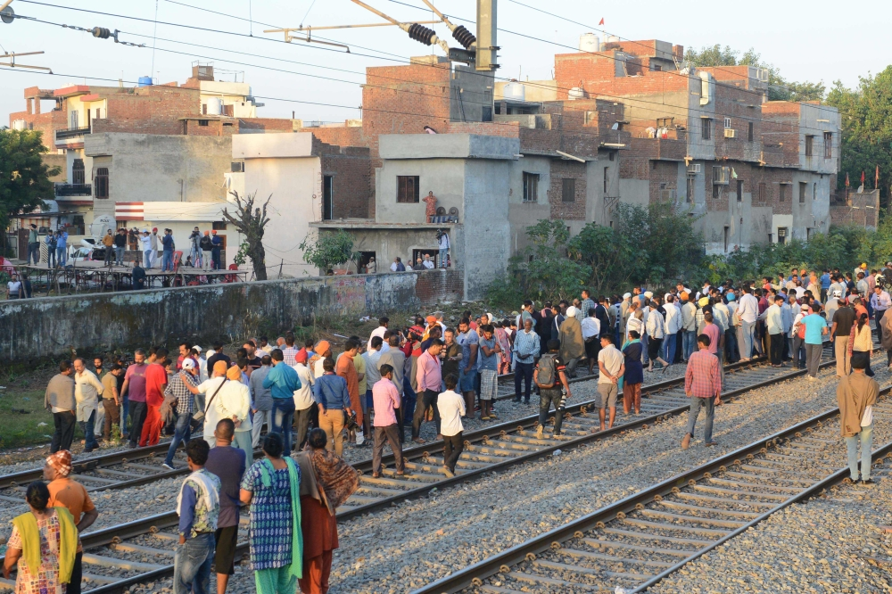 At least 50 killed as train runs over Dussehra revellers in Punjab