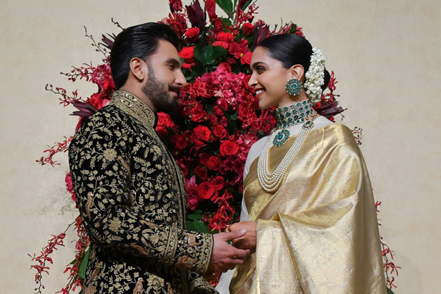 Deepika Padukone and Ranveer Singh wedding reception in