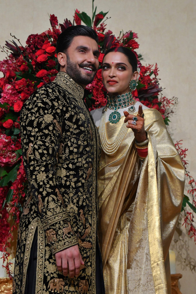 deepika padukone and ranveer singh wedding reception in