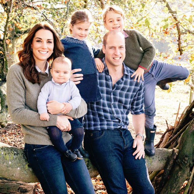 Royal couples release contrasting Christmas card images including unseen wedding photo