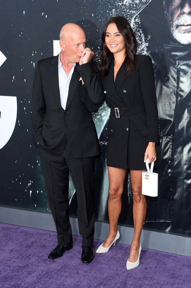Bruce Willis and Emma Heming's at NYC premiere of Glass ...