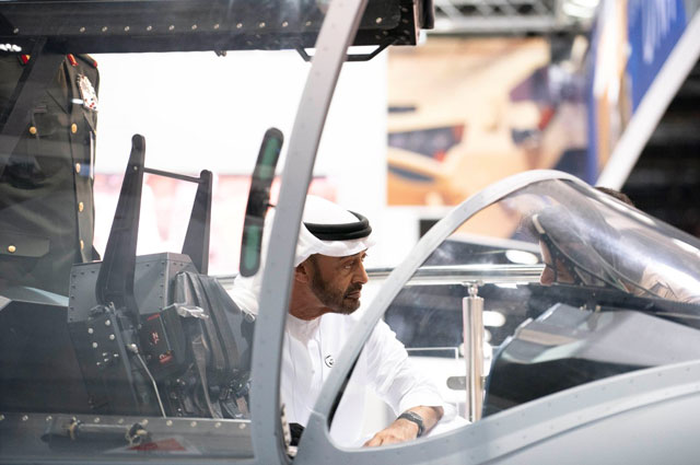 Mohamed bin Zayed tours IDEX 2019 - Emirates24|7