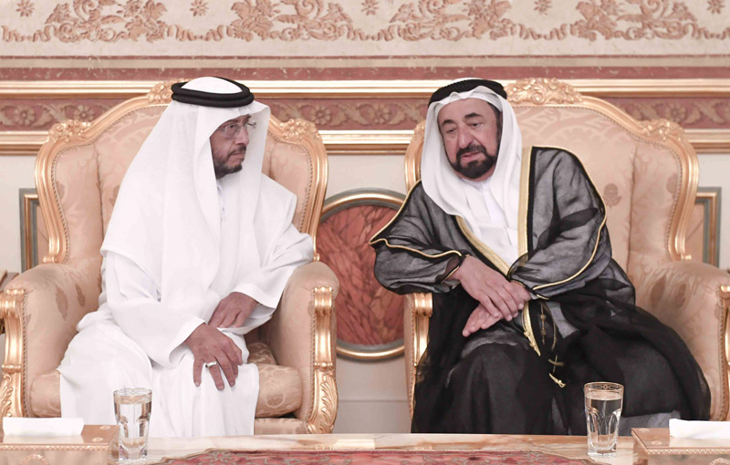Sharjah Ruler receives condolences from Sultan bin Zayed - Emirates24|7