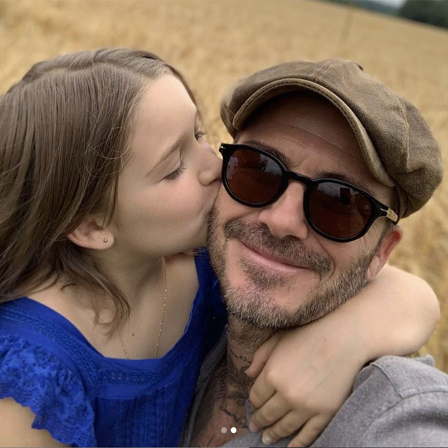 David Beckham shares a cuddly picture on daughter Harper Beckham's birthday