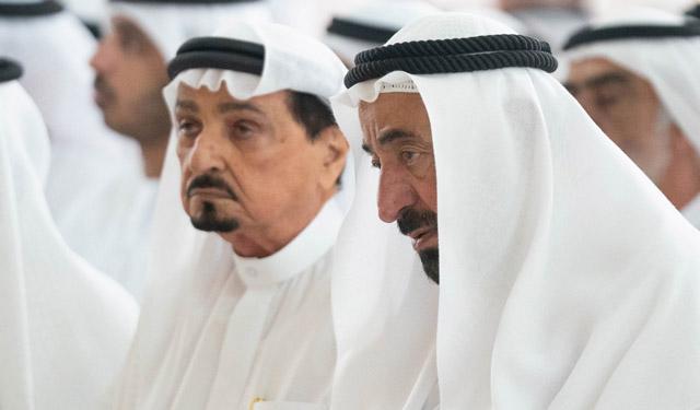 Rulers of Sharjah, Ajman, UAQ, RAK perform funeral prayers
